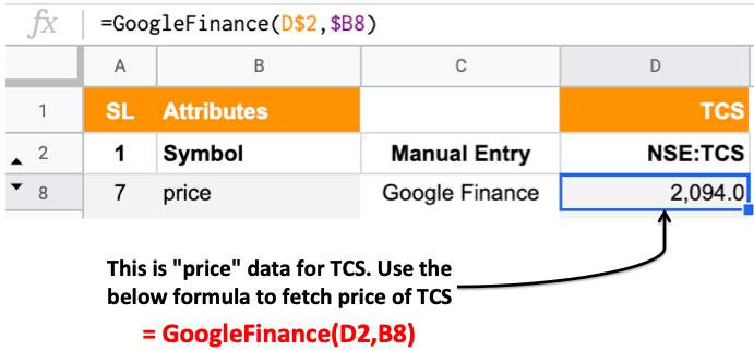 Google Finance Portfolio Tracker of Indian Stocks - Fetching Data