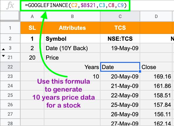 Google Finance Portfolio Tracker for Indian Stocks (using Google
