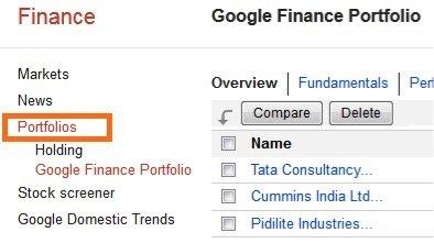 Google Finance India - 5
