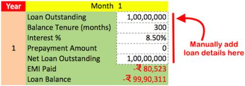 Calculator to Reduce Loan EMI - Enter Data Here